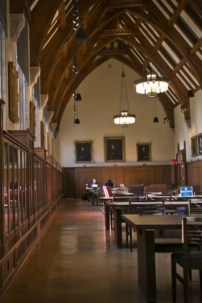 The Gothic Reading room at Perkins Library.